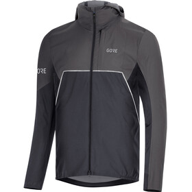 GORE WEAR R7 Partial Gore-Tex Infinium Hooded Jacket Men black/terra grey